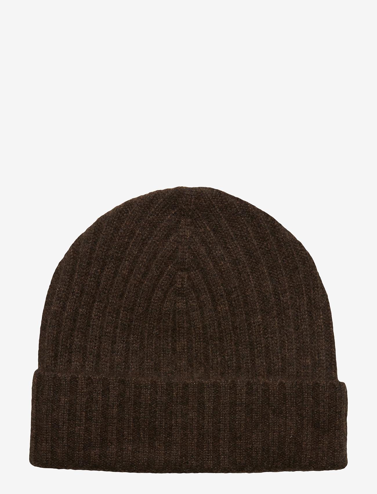 Amanda Christensen - Pure Cashmere Beanie - bonnet - brown melange - 1