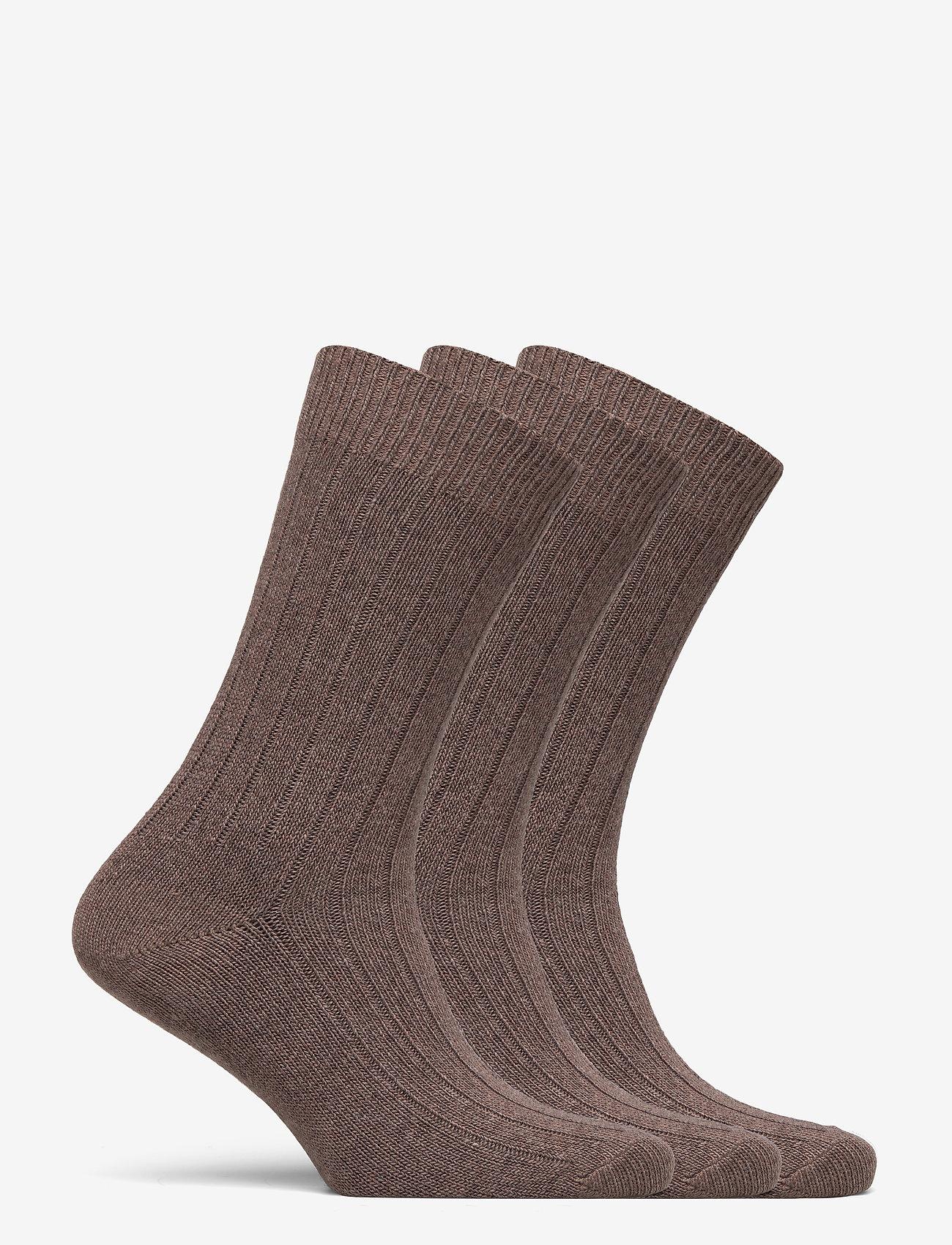Amanda Christensen Supreme Sock 3-pack - Sokker BROWN MELANGE - Menn Klær