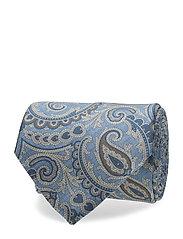 Printed Half Bottle Tie - SKY BLUE