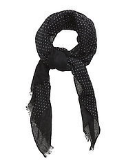 Printed Single Scarf - BLACK