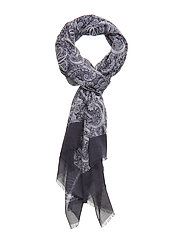 Printed Single Scarf - NAVY