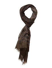 Printed Single Scarf - BROWN