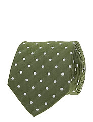 Jacquard Half Bottle Tie - GREEN