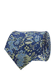 Printed Half Bottle Tie - BLUE