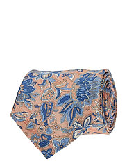 Printed Half Bottle Tie - PEACH