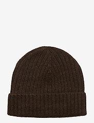 Amanda Christensen - Pure Cashmere Beanie - bonnet - brown melange - 0