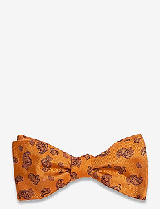 Self Tie Silk - nœud papillon - orange/navy