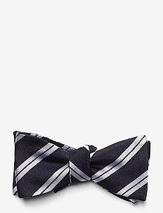 Self Tie Silk - nœud papillon - navy/white