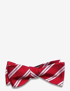 Self Tie Silk - nœud papillon - red/white