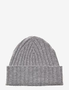 Beanie - luer - light grey melange