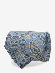 Printed Half Bottle Tie - SKY BLUE