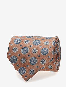 Printed Half Bottle Tie - LIGHT ORANGE