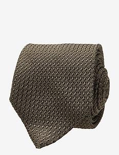Classic Grenadine Tie - krawatten - olive