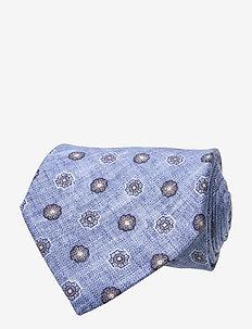 Classic Tie - krawatten - sky blue melange