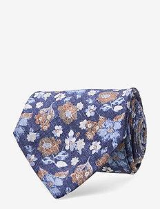 Classic Tie - krawatten - navy melange