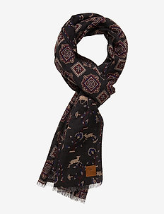 Double Face Scarf - sjaals - black