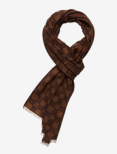 Printed Double Face - sjaals - brown