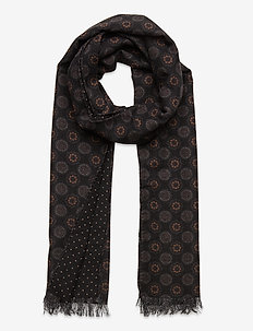 Double Face Scarf - scarves - black
