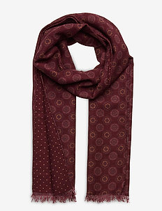 Double Face Scarf - schals - wine red