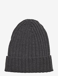 Merino wool Beanie - beanies - anthracite