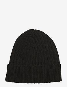 Merino wool Beanie - beanies - black