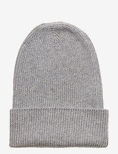 Knitted Beanie - LT GREY MELANGE