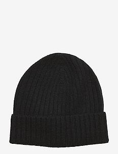 Pure Cashmere Beanie - beanies - black