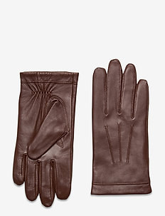 Leather Gloves - handskar - cognac