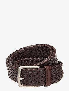 Belt - flätade skärp - brown