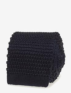 Knitted Tie - ties - navy