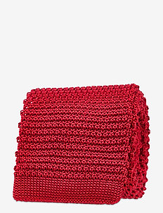 Knitted Tie - slips - red