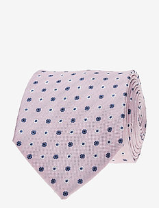 Jacquard Half Bottle Tie - ties - pink