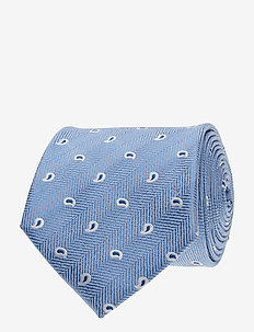 Jacquard Half Bottle Tie - slipsar - blue