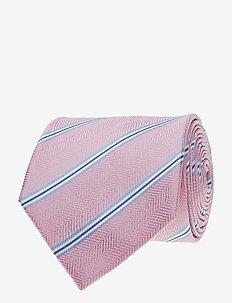 Jacquard Half Bottle Tie - krawaty - pink