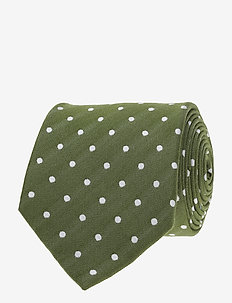 Jacquard Half Bottle Tie - GREEN