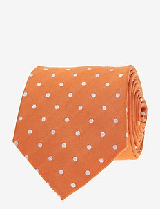 Jacquard Half Bottle Tie - ties - orange