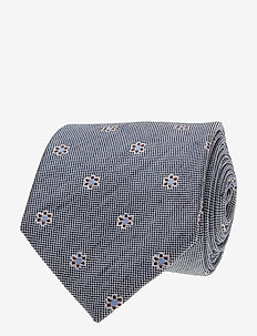 Jacquard Half Bottle Tie - NAVY