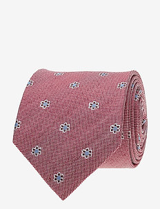 Jacquard Half Bottle Tie - RED