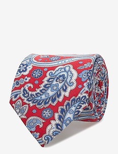 Printed Half Bottle Tie - RED