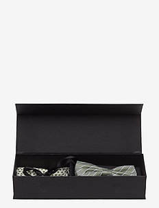 Pre Tie & Pocket Box - poszetka - green