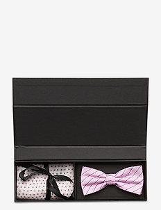 Pre Tie & Pocket Box - lommekluder - pink