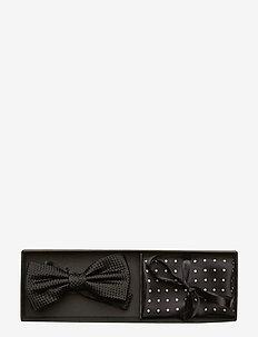 Pre Tie & Pocket - butterflies - black