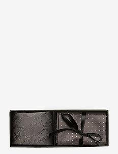 Tie & Pocket Square - GREY