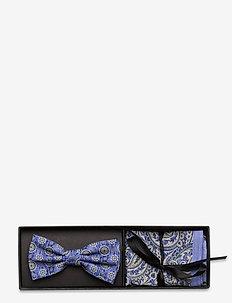 Bow Tie & Pocket - flugor - blue melange