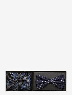 Bow tie & Pocket Square - flugor - navy