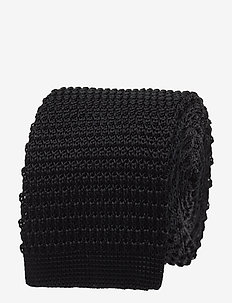 Knitted Tie - slipsar - black