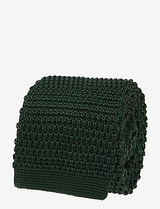 Knitted Silk Tie - ties - bottle green