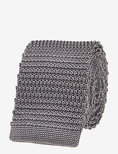 Knitted Silk Tie - krawaty - grey