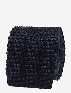 Knitted Tie - slipsar - navy