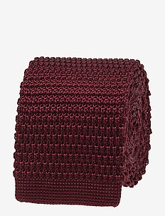 Knitted Tie - WINE RED
